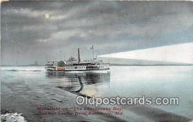 shi045154 - Chesapeake Bay, Steamer Louise Baltimore, Maryland USA Ship Postcard Post Card