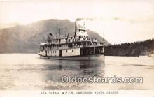 shi045162 - Real photo - Str Tutshi WPYR Carcross, Yukon, Canada Ship Postcard Post Card