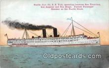 shi045165 - Pacific Nav Co Yale Pacific Coast, San Francisco USA Ship Postcard Post Card