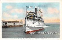 shi045170 - Ferry Steamer Calistoga Vallejo San Francisco Service USA Ship Postcard Post Card