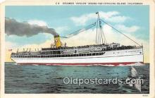 shi045176 - Steamer Avalon Catalina Island, California USA Ship Postcard Post Card