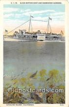 shi045177 - Glass Bottom Boat & Submarine Gardens Catalina Island, California USA Ship Postcard Post Card