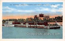shi045178 - Mastodon, Mississippi River New Orleans, LA USA Ship Postcard Post Card