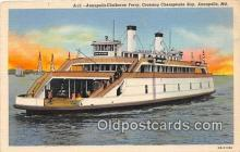 shi045184 - Annapolis Claiborne Ferry Annapolis, MD USA Ship Postcard Post Card