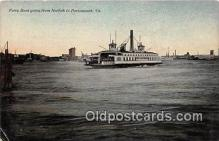 shi045187 - Ferry Boat Norfolk, Portsmouth, VA USA Ship Postcard Post Card