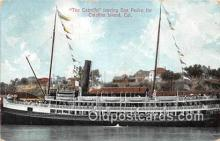 shi045198 - The Cabrillo, San Pedro Catalina Island, California USA Ship Postcard Post Card