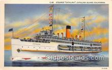 shi045208 - Steamer Catalina Catalina Island, California Ship Postcard Post Card