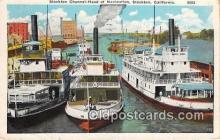 shi045216 - Stockton Channel Head, Navigation Stockton, California USA Ship Postcard Post Card