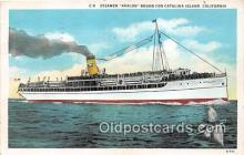 shi045222 - Steamer Avalon Catalina Island, California USA Ship Postcard Post Card