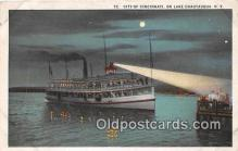 shi045223 - City of Cincinnati Lake Chautauqua, NY USA Ship Postcard Post Card