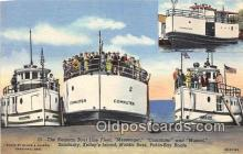 shi045225 - Neuman Boat Line Fleet Kelley's Island Ship Postcard Post Card