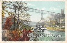shi045226 - Str Falls City Passing High Bridge Ship Postcard Post Card