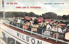 shi045230 - Wilson Line Tampa & St Petersburg Florida USA Ship Postcard Post Card