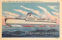 shi045234 - SS Princess Anne Ferry Boat Norfolk, VA USA Ship Postcard Post Card