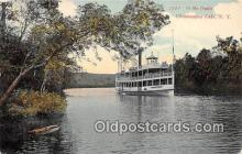 shi045240 - Outlet Chautauqua Lake, NY USA Ship Postcard Post Card