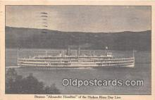 shi045251 - Steamer Alexander Hamilton Hudson River Day Line Ship Postcard Post Card