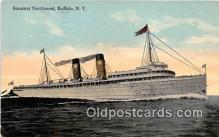 shi045254 - Steamer Northwest Buffalo, NY USA Ship Postcard Post Card