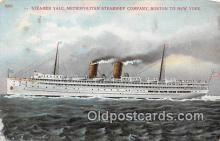 shi045255 - Steamer Yale Boston to New York USA Ship Postcard Post Card