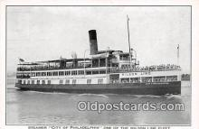 shi045257 - Steamer City of Philadelphia Wilson Line Fleet Ship Postcard Post Card