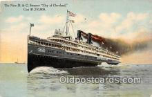 shi045259 - New D & C Steamer City of Cleveland Ship Postcard Post Card