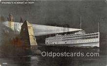 shi045261 - Steamer CW Morse  Ship Postcard Post Card