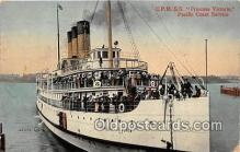 shi045265 - CPR SS Princess Victoria Pacific Coast Service Ship Postcard Post Card