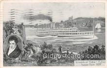 shi045272 - Steamboat Robert Fulton Hudson River 1909 Ship Postcard Post Card