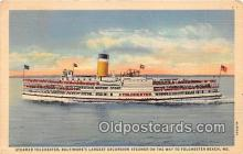 shi045276 - Steamer Tolchester Tolchester Beach, MD USA Ship Postcard Post Card