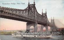 shi045294 - Queensboro Bridge New York USA Ship Postcard Post Card