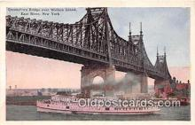 shi045296 - Queensboro Bridge East River, New York USA Ship Postcard Post Card