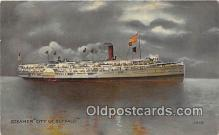 shi045307 - Steamer City of Buffalo  Ship Postcard Post Card
