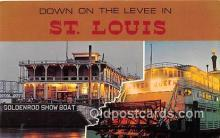 shi045323 - Goldenrod Show Boat St Louis, Missouri USA Ship Postcard Post Card