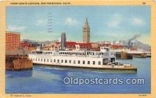 shi045325 - Ferry Boats Leaving San Francisco, California USA Ship Postcard Post Card