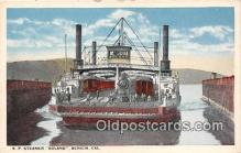 shi045327 - SP Steamer Colano Benicia, California USA Ship Postcard Post Card