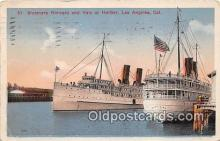 shi045329 - Steamers Harvard & Yale Los Angeles, California USA Ship Postcard Post Card