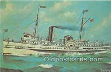 shi045330 - Joy Line Steamship Larchmont New York City Feb 11, 1907 USA Ship Postcard Post Card