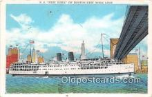 shi045332 - SS New York Boston New York Line Ship Postcard Post Card