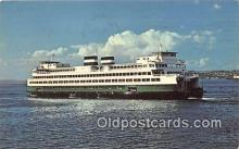 shi045336 - Washington State Super Ferry  Ship Postcard Post Card