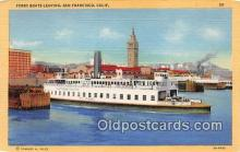 shi045339 - Ferry Boats Leaving San Francisco, California USA Ship Postcard Post Card