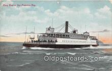 shi045344 - Ferry Boat San Francisco, California USA Ship Postcard Post Card