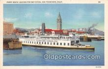 shi045347 - Ferry Boats Leaving San Francisco, California USA Ship Postcard Post Card