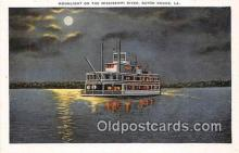shi045348 - Mississippi River Baton Rouge, LA USA Ship Postcard Post Card