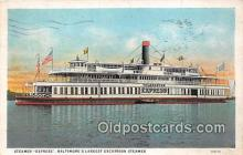 shi045349 - Steamer Express Baltimore, MD USA Ship Postcard Post Card