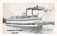 shi045350 - Excursion Steamer Avalon Ship Postcard Post Card