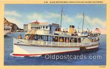 shi045354 - Glass Bottom Boat Santa Catalina Island, California USA Ship Postcard Post Card