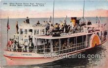 shi045355 - Glass Bottom Power Boat Empress Santa Catalina Island, California USA Ship Postcard Post Card