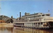 shi045356 - Stern Wheeler Mississippi River Steamboat Gordon C Greene Hannibal Missouri USA Ship Postcard Post Card