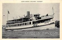 shi045359 - Sight Seeing Steamer Tourist Battery Park, Manhattan Island NY USA Ship Postcard Post Card