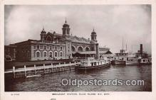 shi045362 - Immigrant Station Ellis Island, NY City USA Ship Postcard Post Card