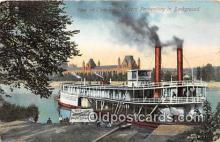 shi045363 - Ohio River Western Penitentiary  Ship Postcard Post Card